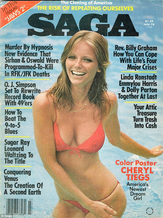 Cheryl, who is pictured on the cover of Saga magazine in 1978, said she didn't like that people are talking about 'full-figured' women because it is 'glamorizing' them