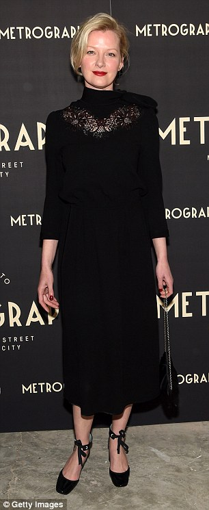 Fade to black: Gretchen Mol and Greta Gerwig lent their understated yet enigmatic presence to the opening of the Metrograph arthouse movie theater in New York City on Wednesday