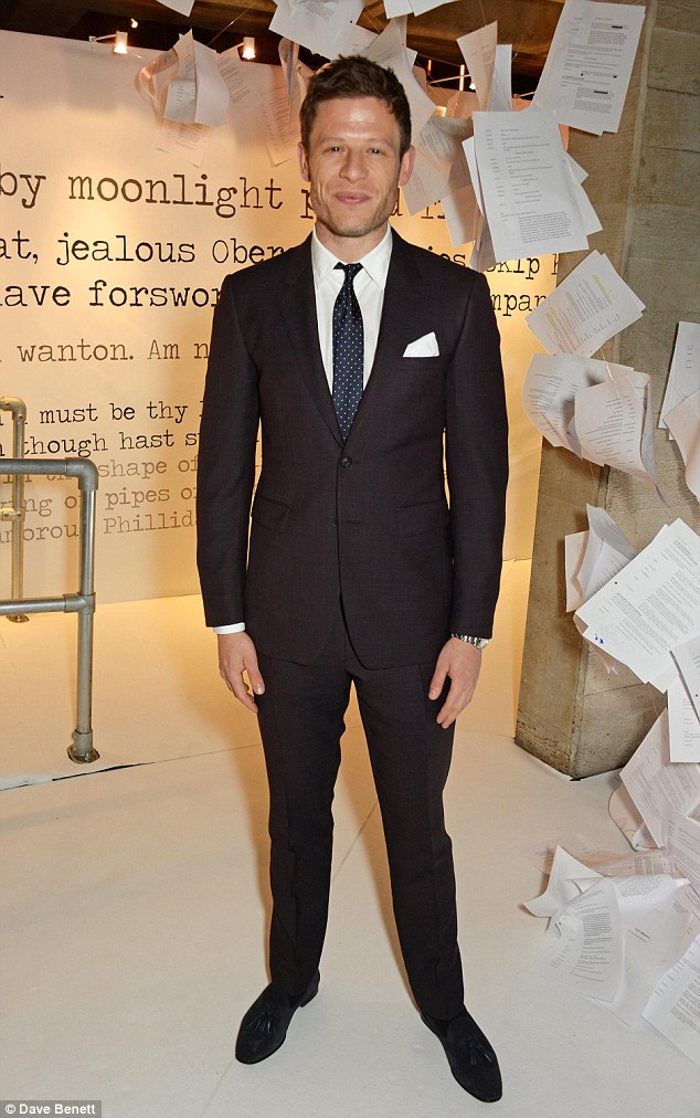 Looking good! James Norton proved he is worthy of his heartthrob status as the 30-year-old actor cut a suave figure when attending the Bright Young Things Gala 2016, held at The National Theatre on Wednesday evening