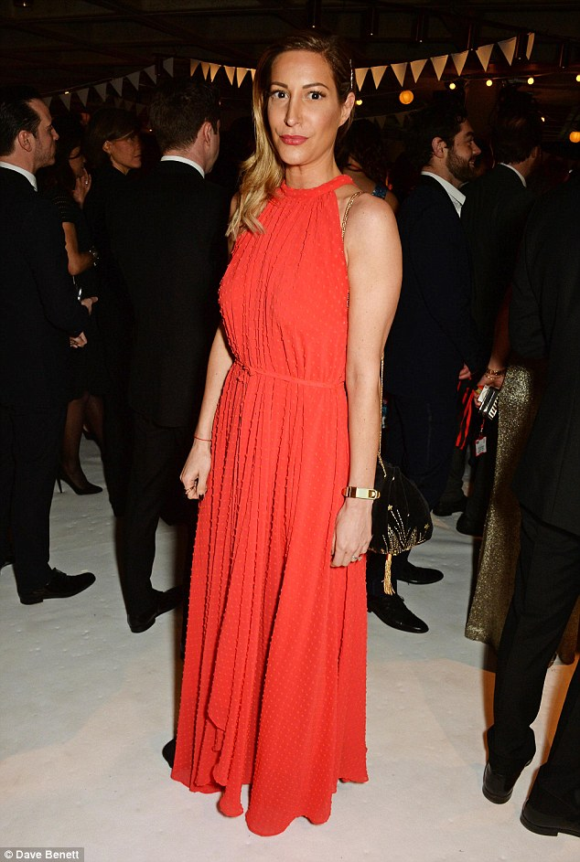 The brighter the better! Games of Thrones' Laura Pradelska made sure to stand out in a vivid red halter-neck frock