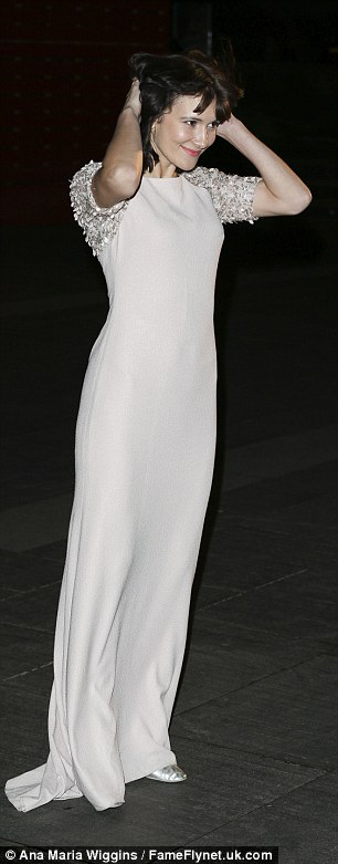 All dressed up: ActressSarah Solemani was dressed to the nines in a glam white gown