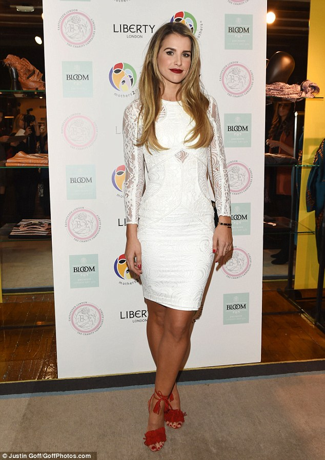 An angelic outing? Vogue Williams put all that to one side on Wednesday night, as she stepped out in the name of charity in London, attending an event held by AIDS organisation, Mothers2Mothers