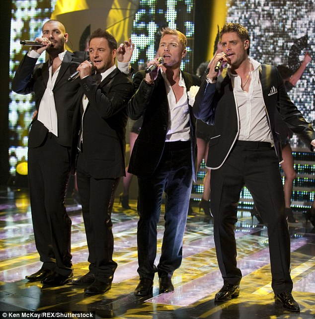 Back on the road again: Keith was a member of Boyzone, whose charm and talent took them to the top in the '90s