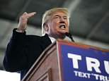 COLUMBUS, OH: Republican presidential candidate Donald Trump speaks at a rally held at Signature Flight Hangar in Columbus, Ohio on Tuesday, March 1, 2016. (Maddie McGarvey for The Washington Post via Getty Images)