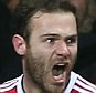 MANCHESTER, ENGLAND - MARCH 02:  Juan Mata of Manchester United celebrates scoring their first goal during the Barclays Premier League match between Manchester United and Watford at Old Trafford on March 2, 2016 in Manchester, England.  (Photo by Matthew Peters/Man Utd via Getty Images)