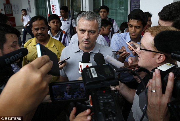 Mourinho, visiting a school in Singapore earlier this week, has persistently been linked with the United job