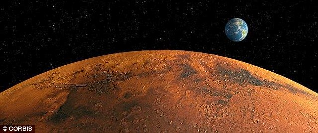 It is estimated people on Mars initially could only produce 15% or 20% of what they need to eat, meaning Earth would need to supply them continually. There would be little to be gained from just sending people to the planet (illustratd) and bringing them back, as Nasa did with the moon landings, Dr Aldrin added