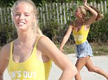 Check out hot young model Abby Champion, who according to reports is now dating Patrick Schwarzenegger. The 19-year-old blonde, who is signed to Next Models and splits her time between Los Angeles and Miami Beach, is seen playing volleyball in a bright yellow swimsuit and Daisy Duke shorts. Abby is an Alabama native, who was seen out and about with Schwarzenegger in LA on her 19th birthday on Sunday (feb 29). According to TMZ.com, the 22-year-old son of film legend Arnold Schwarzenegger, who used to date Miley Cyrus, is in the early stages of his new romance with Champion. Photos taken on February 2, 2016. \n\nPictured: Abby Champion\nRef: SPL1239010  020316  \nPicture by: Splash News\n\nSplash News and Pictures\nLos Angeles: 310-821-2666\nNew York: 212-619-2666\nLondon: 870-934-2666\nphotodesk@splashnews.com\n