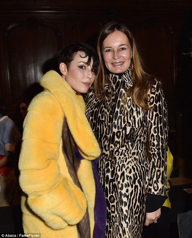 Her new look: Noomi has been spotted out and about in statement furry jacket in recent weeks