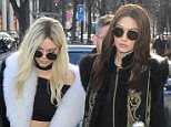 3 March 2016. Kendall Jenner and Gigi Hadid seen arriving at L'Avenue this afternoon after walking the Balmain show.  Credit: Eade/Warner/GoffPhotos.com   Ref: KGC-102/195