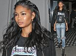 Chanel Iman Leaves Craig's Restaurant Wearing A Metallica T-Shirt in West Hollywood  Pictured: Chanel Iman Ref: SPL1239837  030316   Picture by: Photographer Group / Splash News  Splash News and Pictures Los Angeles: 310-821-2666 New York: 212-619-2666 London: 870-934-2666 photodesk@splashnews.com