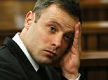 Paralympian Oscar Pistorius reacting during his sentencing hearing at the Pretoria high court.   South African state prosecutors said on October 27, 2014 they would appeal a culpable homicide verdict and five year jail term handed down to fallen track star Oscar Pistorius.  (FILES)  A file picture taken on October 16, 2014. AFP PHOTO / Pool / Alon SkuyAlon Skuy/AFP/Getty Images