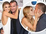 """LOS ANGELES, CA - JUNE 10:  Actors AnnaLynne McCord (L) and Dominic Purcell (R) attend the screening of """"I Choose"""" at the Harmony Gold Theatre on June 10, 2014 in Los Angeles, California.  (Photo by Paul Archuleta/FilmMagic)"""