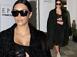 Picture Shows: Kim Kardashian  March 01, 2016\n \n Reality star Kim Kardashian was spotted at Epione in Beverly Hills, California. Kim looked stylish in an all black ensemble as she made her way to the car.\n \n Non-Exclusive\n UK RIGHTS ONLY\n \n Pictures by : FameFlynet UK � 2016\n Tel : +44 (0)20 3551 5049\n Email : info@fameflynet.uk.com