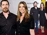 """March 1, 2016 Los Angeles, Ca.\nChristian Bale and Sibi Blazic\n""""Knight of Cups"""" Los Angeles premiere held at The Theatre at Ace Hotel\n© Tammie Arroyo / AFF-USA.COM\n"""