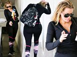 Beverly Hills, CA - Khloe Kardashian arrives to the gym in the 90210. The reality TV star has been working hard on her fitness. With a banana and smoothie in hand, Khloe makes a b-line for door to fit a workout in.\nAKM-GSI          March 1, 2016\nTo License These Photos, Please Contact :\nSteve Ginsburg\n(310) 505-8447\n(323) 423-9397\nsteve@akmgsi.com\nsales@akmgsi.com\nor\nMaria Buda\n(917) 242-1505\nmbuda@akmgsi.com\nginsburgspalyinc@gmail.com