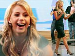 """Jodie Sweetin reveals that she's joining the 'Dancing with the Stars' show during an interview at the """"Good Morning America"""" show in Times Square, Manhattan.\n\nPictured: Jodie Sweetin\nRef: SPL1239181  020316  \nPicture by: Jose Perez / Splash News\n\nSplash News and Pictures\nLos Angeles: 310-821-2666\nNew York: 212-619-2666\nLondon: 870-934-2666\nphotodesk@splashnews.com\n"""