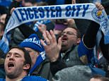 Leicester fans MAN CITY V LEICESTER- PIcture by Ian Hodgson/Daily Mail
