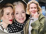 EXCLUSIVE: Sarah Paulson looks ready for Vancouver's wet weather, after leading a TED Talks Conference on 18 February 2016. Dressed casually in a knit sweater, stone-washed denim, and an oversize green rain jacket, Sarah looked in good spirits!....Pictured: Sarah Paulson..Ref: SPL1233074  220216   EXCLUSIVE..Picture by: Splash News....Splash News and Pictures..Los Angeles: 310-821-2666..New York: 212-619-2666..London: 870-934-2666..photodesk@splashnews.com..