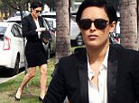 Picture Shows: Rumer Willis  March 03, 2016\n \n 'Sorority Row' actress Rumer Willis was spotted on her way to a studio in Hollywood, California. She looked great in a black suit.\n \n Non-Exclusive\n UK RIGHTS ONLY\n \n Pictures by : FameFlynet UK © 2016\n Tel : +44 (0)20 3551 5049\n Email : info@fameflynet.uk.com