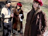"""Keri Russell pictured with her boyfriend and Co-Star Matthew Rhys on """"The Americans"""" set inside Prospect Park in Brooklyn.\n\nPictured: Keri Russell and Matthew Rhys\nRef: SPL1239129  010316  \nPicture by: Jose Perez / Splash News\n\nSplash News and Pictures\nLos Angeles: 310-821-2666\nNew York: 212-619-2666\nLondon: 870-934-2666\nphotodesk@splashnews.com\n"""