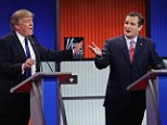 DETROIT, MI - MARCH 03:  Republican presidential candidates (Lto R) Donald Trump and Sen. Ted Cruz (R-TX) participate in a debate sponsored by Fox News at the Fox Theatre on March 3, 2016 in Detroit, Michigan. Voters in Michigan will go to the polls March 8 for the State's primary.  (Photo by Chip Somodevilla/Getty Images)