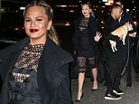 Picture Shows: John Legend  March 03, 2016\n \n Pregnant Chrissy Teigen and John Legend spotted on a night out in New York City, New York. John had to help their dog get into the car. \n \n Non-Exclusive\n UK RIGHTS ONLY\n \n Pictures by : FameFlynet UK © 2016\n Tel : +44 (0)20 3551 5049\n Email : info@fameflynet.uk.com
