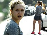 EXCLUSIVE: Elizabeth Olsen completes the challenging runyon canyon with her personal trainer before saying goodbye to her friends in LA.  Pictured: Elizabeth Olsen Ref: SPL1239724  020316   EXCLUSIVE Picture by: Splash News  Splash News and Pictures Los Angeles: 310-821-2666 New York: 212-619-2666 London: 870-934-2666 photodesk@splashnews.com