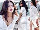 February 29, 2016: Actress Priyanka Chopra films scenes for the movie Baywatch in Miami.\nMandatory Credit: INFphoto.com Ref: infusmi-11/13