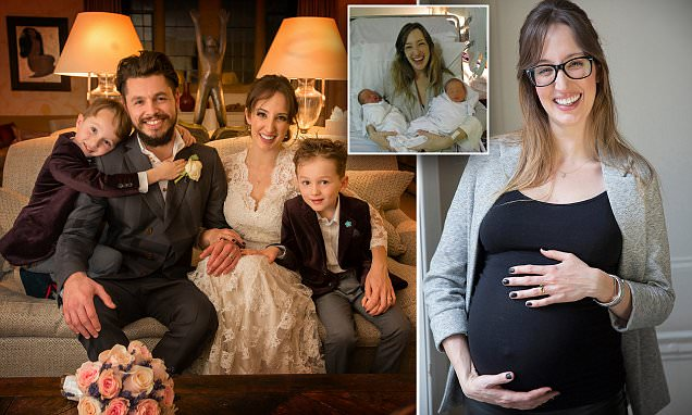 Mother discovers she is a 'super-ovulator' and expecting twin boys again
