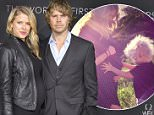 LOS ANGELES, CA - MARCH 01:  Actors Sarah Wright Olsen (L) and Eric Christian Olsen attend OMEGA celebrates the launch of the Master Chronometer Globemaster at Mack Sennett Studios on March 1, 2016 in Los Angeles, California.  (Photo by Vincent Sandoval/WireImage)
