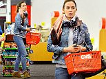 EXCLUSIVE: Emily Blunt was spotted hiding her baby bump under a denim jacket and a basket while shopping for cold medicine at CVS pharmacy in Los Angeles, CA.  Pictured: Emily Blunt Ref: SPL1235432  010316   EXCLUSIVE Picture by: Sharpshooter Images / Splash  Splash News and Pictures Los Angeles: 310-821-2666 New York: 212-619-2666 London: 870-934-2666 photodesk@splashnews.com