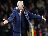 Arsenal's manager Arsene Wenger gestures during the English Premier League soccer match between Arsenal and Swansea City at the Emirates stadium in London, Wednesday, March 2, 2016.(AP Photo/Frank Augstein)