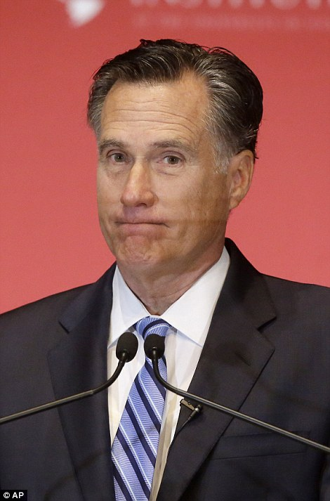 Mitt Romney (pictured) said Trump was 'a phony, a fraud' and 'not smart'