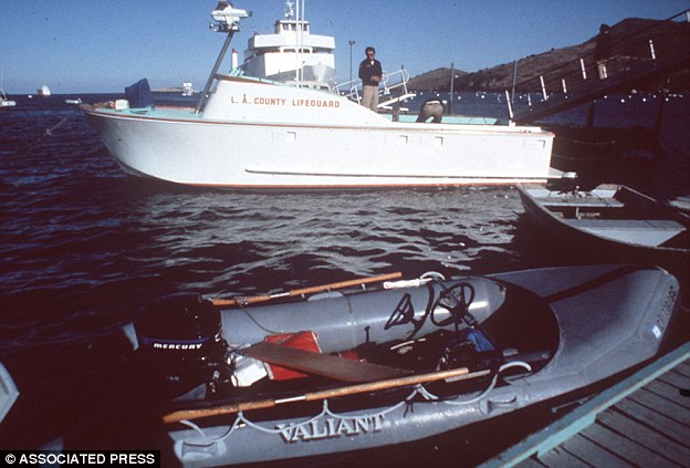 A small inflatable boat (pictured) was examined  after being found beached near to where her body was found