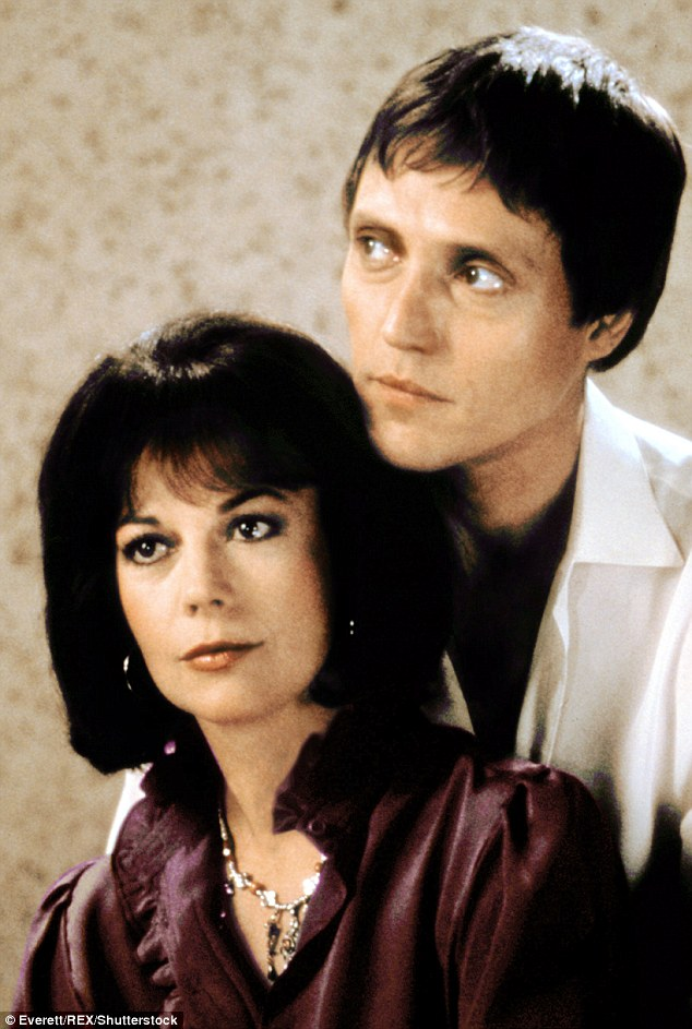 Natalie Wood and Christopher Walken pictured together in sci-fi thriller Brainstorm. Walken joined Wagner and Wood's aboard Splendour to celebrate the successful completion of the the film