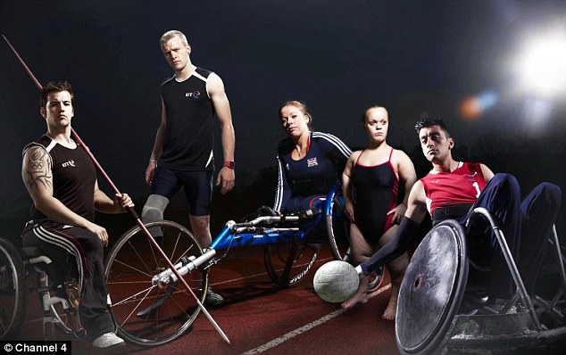 Inspiring: Paralympians have not let their disabilities get in their way to become the best in their disciplines. Pictured left to right are Nathan Stephens, Jonnie Peacock, Hannah Cockroft, Ellie Simmonds and Mandip Sehmi