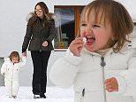 exclusive photos albert@abacapress tamara ecclestone with daughter sophia sledging and enjoying the snow gstaad,switzerland