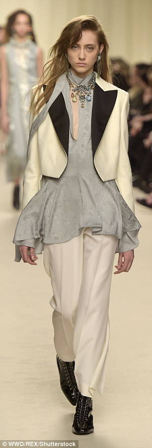 It's all in the details! Structured tailoring was big business on the runway of Lanvin's Autumn/Winter 2016 collection as models cavorted along the catwalk in a series of constructed looks