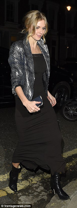 Alice Dellal opted for an all black style
