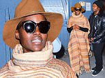 EXCLUSIVE: Lupita Nyong'o was spotted out in NYC on Tuesday, as she celebrated her 33rd Birthday. She was seen signing autographs at the Stage Door of her Broadway play, Eclipsed. The Oscar winner wore a Floor Length Striped Poncho with a large turtleneck, as she greeted her adoring fans and took selfies. The crowd all wished her a happy Birthday.\n\nPictured: Lupita Nyong'o\nRef: SPL1239219  010316   EXCLUSIVE\nPicture by: 247PAPS.TV / Splash News\n\nSplash News and Pictures\nLos Angeles: 310-821-2666\nNew York: 212-619-2666\nLondon: 870-934-2666\nphotodesk@splashnews.com\n