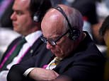 ZURICH, SWITZERLAND - FEBRUARY 26:  Greg Dyke, Chairman of the England Football Association listens during the Extraordinary FIFA Congress at Hallenstadion on February 26, 2016 in Zurich, Switzerland.  (Photo by Matthias Hangst/Getty Images)