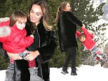 exclusive photos albert@abacapress tamara ecclestone with daughter sophia leaving palace hotel gstaad,switzerland