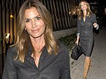 Supermodel, Cindy Crawford looking flawless in a full length coat and carrying a designer handbag as she left 'Gracious Madre' Mexican Restaurant in West Hollywood, CA  Pictured: Cindy Crawford Ref: SPL1240634  030316   Picture by: SPW / Splash News  Splash News and Pictures Los Angeles: 310-821-2666 New York: 212-619-2666 London: 870-934-2666 photodesk@splashnews.com