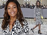 PARIS, FRANCE - MARCH 04:  Naomie Harris is seen arriving at Dior fashion show during Paris Fashion Week : Womenswear Fall Winter 2016/2017 on March 4, 2016 in Paris, France.  (Photo by Jacopo Raule/GC Images)