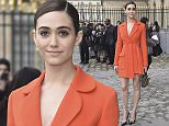 PARIS, FRANCE - MARCH 04:  Emmy Rossum is seen arriving at Dior fashion show during Paris Fashion Week : Womenswear Fall Winter 2016/2017 on March 4, 2016 in Paris, France.  (Photo by Jacopo Raule/GC Images)