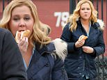 *EXCLUSIVE* New York, NY - Amy Schumer sneaks in a meat sandwich between scenes while filming her American comedy series 'Inside Amy Schumer' in New York.\n \n AKM-GSI   March  3, 2016\nTo License These Photos, Please Contact :\nSteve Ginsburg\n(310) 505-8447\n(323) 423-9397\nsteve@akmgsi.com\nsales@akmgsi.com\nor\nMaria Buda\n(917) 242-1505\nmbuda@akmgsi.com\nginsburgspalyinc@gmail.com