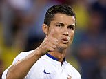 Portugal player Cristiano Ronaldo gestures during the UEFA EURO 2016 Qualifying - Group I soccer match at Republican Stadium in Yerevan, Armenia, 13 June 2015.     epa04797394  EPA/HUGO DELGADO