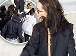 Picture Shows: Maddox Jolie-Pitt  March 02, 2016\n \n Angelina Jolie-Pitt and family spend the day in London before jetting back to New York. \n \n Maddox Chivan Jolie-Pitt was seen that day out for lunch at Super Star Korean restaurant while in the Capital.\n \n Maddox, who braved the rain in a black raincoat, showed off an edgy blonde and black hairstyle.\n \n Exclusive\n WORLDWIDE RIGHTS\n \n Pictures by : FameFlynet UK © 2016\n Tel : +44 (0)20 3551 5049\n Email : info@fameflynet.uk.com