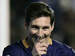 Barcelona's Argentinian forward Lionel Messi celebrates after scoring during the Spanish league football match CF Rayo Vallecano vs FC Barcelona at the Vallecas stadium in Madrid on March 3, 2016. / AFP / PIERRE-PHILIPPE MARCOUPIERRE-PHILIPPE MARCOU/AFP/Getty Images